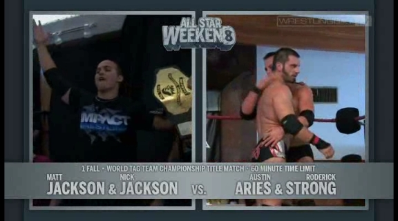 Young Bucks vs Austin Aries & Roderick Strong - PWG World Tag Team Championships - PWG All Star W.avi_000002235