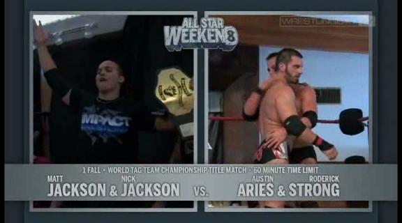Young Bucks vs Austin Aries & Roderick Strong - PWG World Tag Team Championships - PWG All Star W.avi_000002235